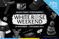 White Rose Weekend - 20% off selected items in the Club Shop